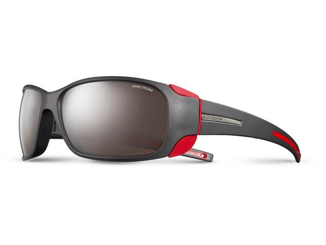 Julbo Montebianco Spectron 4 Sunglasses Matt Black/Red-Brown Flash Silver